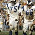 Deacon Jones Rams and Teammate
