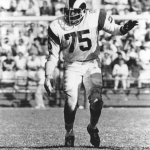 Deacon Jones St. Louis Rams NFL
