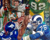 NFL Painting Titled Sack Leaders