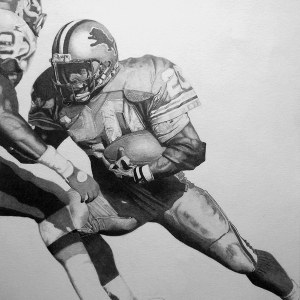 Barry Sanders Art by Jamie Thomas