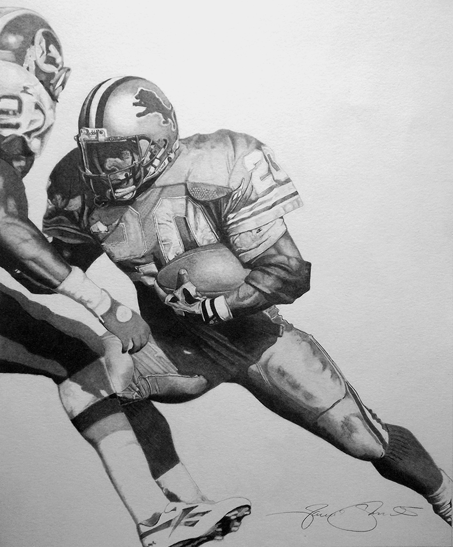 Barry Sanders Art by Jamie Thomas