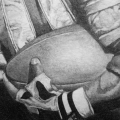 Barry Sanders Painting Detail View