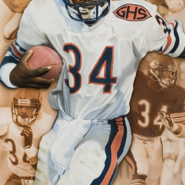 NFL Art of Chicago Bears Walter Peyton