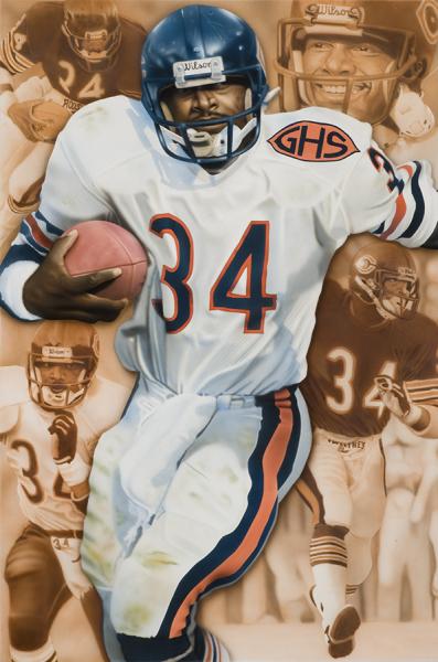 NFL Art of Chicago Bears Walter Peyton