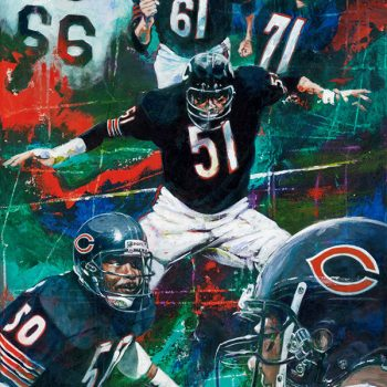 Chicago Bears Linebackers Artwork