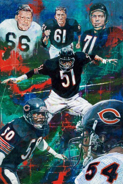 Chicago Bears Linebackers Artwork