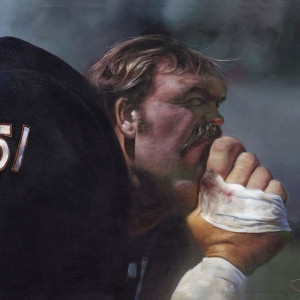 NFL Art of Chicago Bears Linebacker Dick Butkus