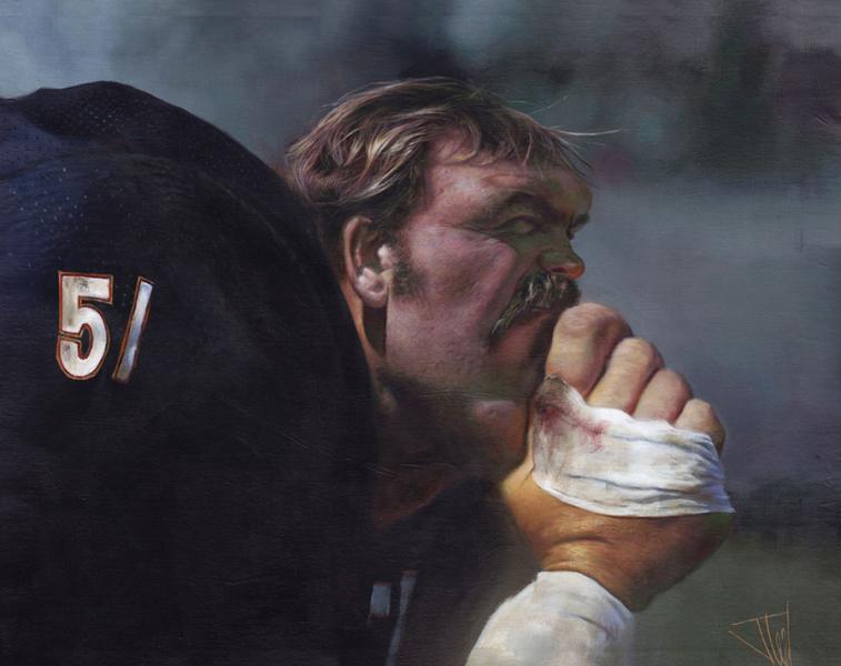 NFL Art of Chicago Bears Linebacker Dick Butkus