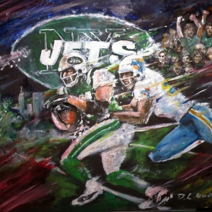 New York Jets and Miami Dolphins Artwork