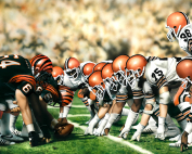 NFL Painting of the Bengals vs Browns