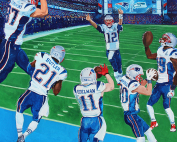 Super Bowl XLIX Painting by Edgar Brown