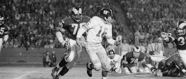 NFL Photo of Deacon Jones and Frank Gifford