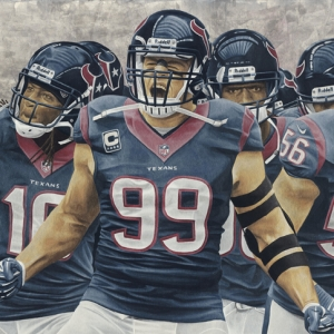 NFL Painting of the Houston Texans