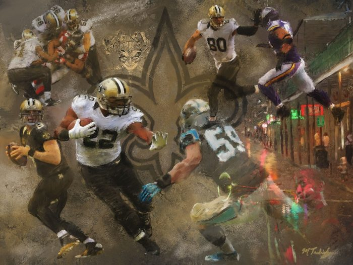 NFL Art of the New Orlean Saints