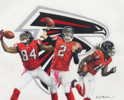 NFL Painting of the Atlanta Falcons