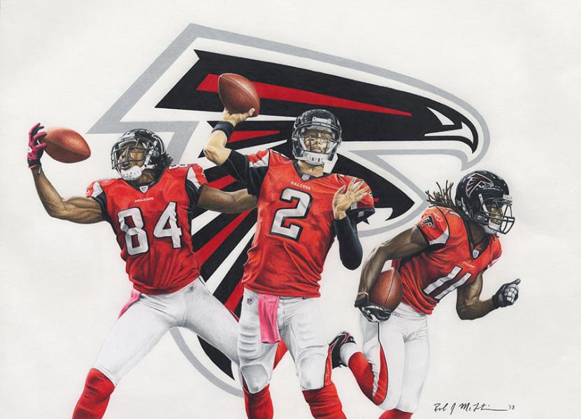 NFL Painting of the Atlanta Falcons