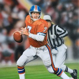 NFL Painting of John Elway