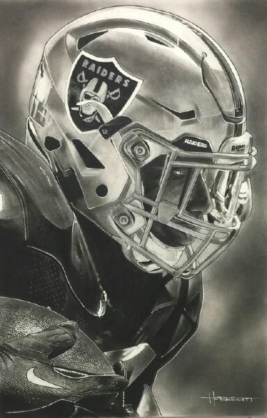 NFL Painting of the Oakland Raiders