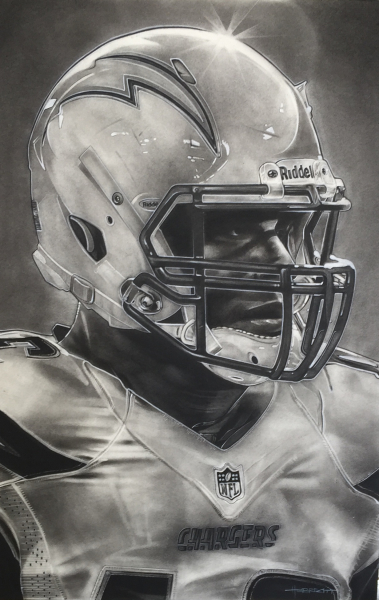 NFL Painting of the San Diego Chargers
