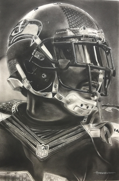 NFL Painting of the Seattle Seahawks