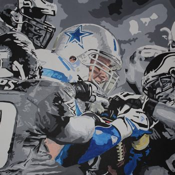 NFL Art of the Philadelphia Eagles vs Dallas Cowboys