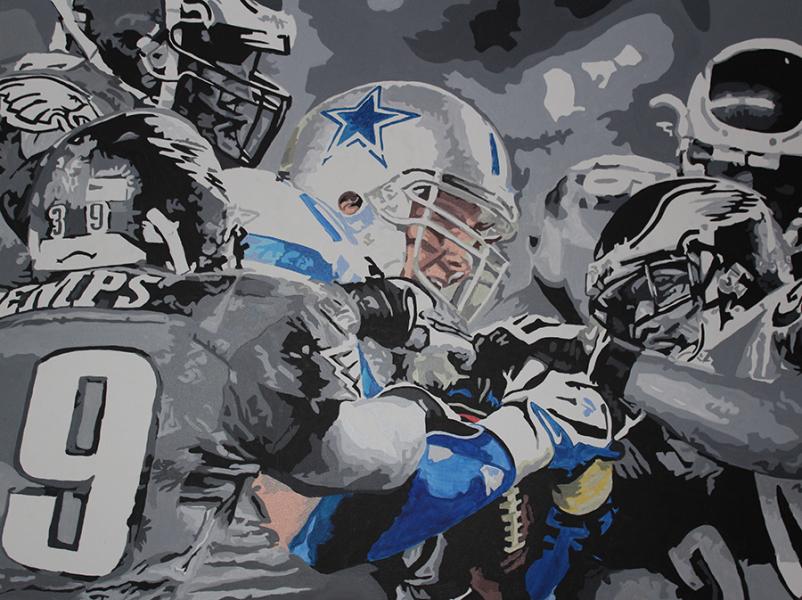NFL Art of the Philadelphia Eagles vs Dallas Cowboys