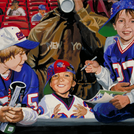 NFL Art of the New York Giants by Artist Edgar Brown