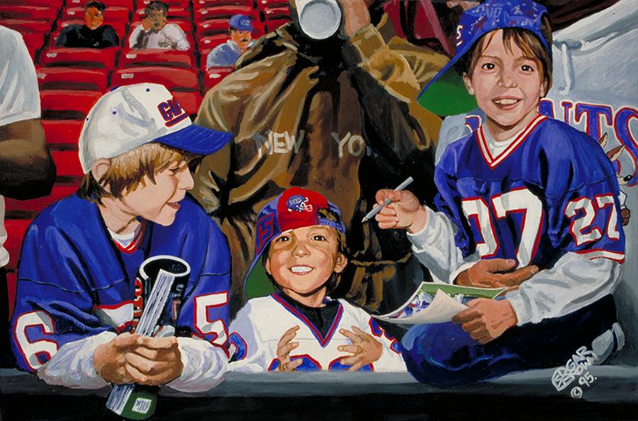 NFL Art of the New York Giants by Artist Edgar Brown