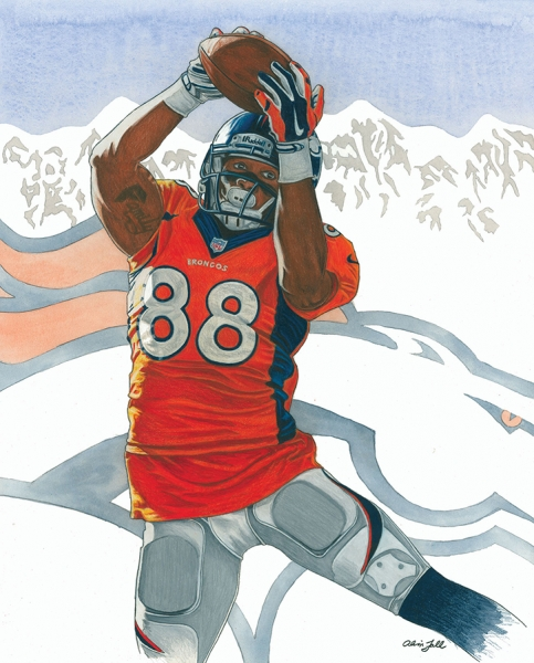 Above the Divide Demaryius Thomas DJF