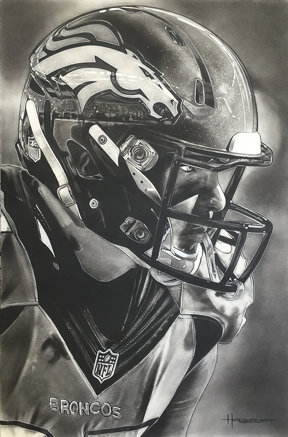 NFL Painting of the Denver Broncos