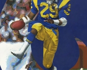 Eric Dickerson Football Painting