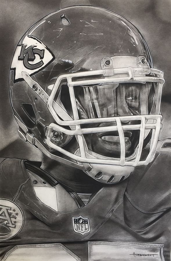 NFL Painting of the Kansas City Chiefs