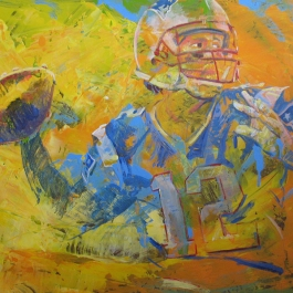 NFL Painting of Tom Brady