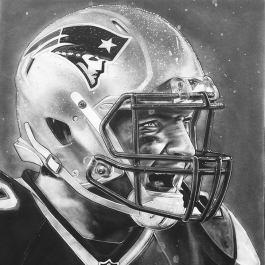 New England Patriots Helmet Series Artwork