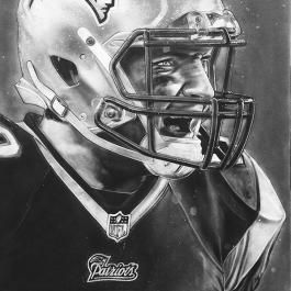 New England Patriots Helmet Series Artwork