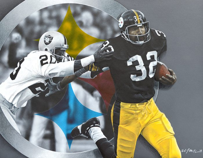 NFL Art of the Pittsburgh Steelers vs the Oakland Raiders